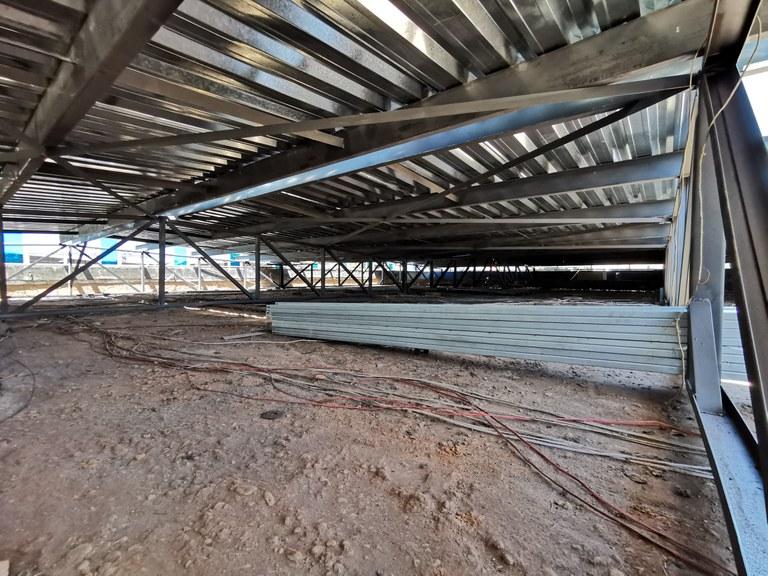 Instalação da 1ª Parte do Telhado
