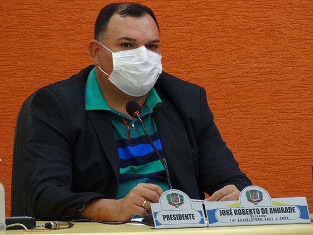 Presidente Zé Roberto acompanhou os trabalhos. (Imagem: Denílson Lopes de Andrade)