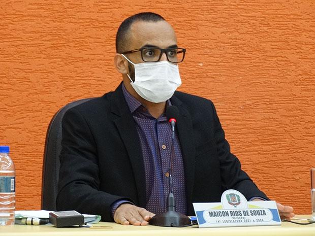 Maicon Rios, presidente da comissão de financias e orçamento. (Imagem: Denílson Lopes de Andrade)